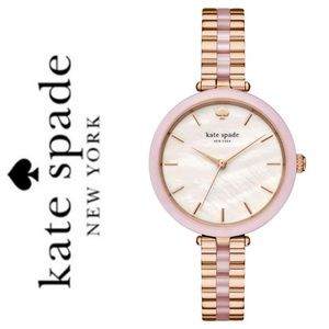 NWT Kate Spade mother of pearl rosegold tone watch